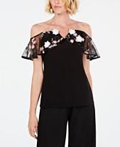 d81e7e7c577 MSK Illusion Floral Off-The-Shoulder Top