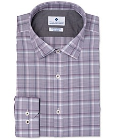 Men's Ultimate Slim-Fit Non-Iron Performance Stretch Plaid Dress Shirt, Created for Macy's
