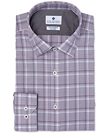 Ryan Seacrest Distinction™ Men's Ultimate Slim-Fit Non-Iron Performance Stretch Plaid Dress Shirt, Created for Macy's