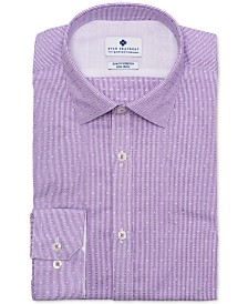 Ryan Seacrest Distinction™ Men's Ultimate Slim-Fit Non-Iron Performance Stretch Lilac Dobby Stripe Dress Shirt, Created for Macy's