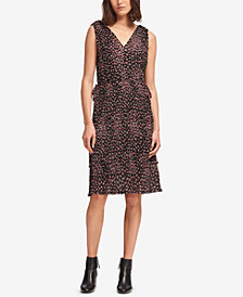 DKNY Printed Ruffled Midi Dress, Created for Macy's