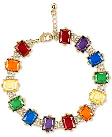 RACHEL Rachel Roy Gold-Tone Crystal Flex Bracelet