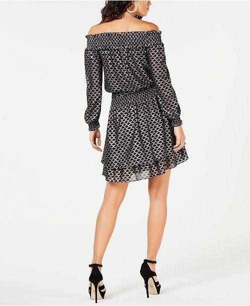 6687c0dd9b3 Michael Kors Off-The-Shoulder Fit   Flare Dress   Reviews - Dresses ...