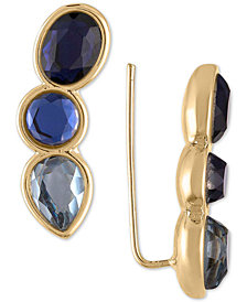 RACHEL Rachel Roy Gold-Tone Crystal Climber Earrings