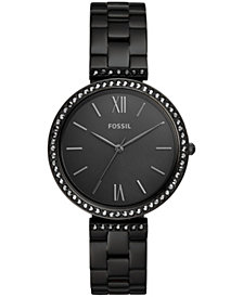 Fossil Women's Madeline Black Stainless Steel bracelet Watch 38mm