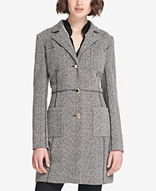 DKNY Four-Pocket Marled Knit Duster Jacket, Created for Macy's