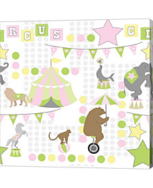 Baby Big Top V Pink by ND Art & Design Canvas Art