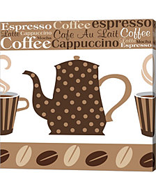 Cafe Latte II by ND Art & Design Canvas Art