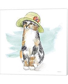 Fancy Cats III Water by Beth Grove Canvas Art