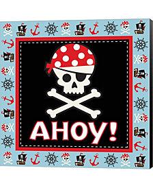 Ahoy Pirate Boy III By Nd Art & Design Canvas Art
