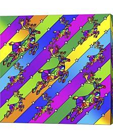 Pop Art Reindeer By Howie Green Canvas Art