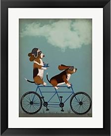 Basset Hound Tandem By Fab Funky Framed Art