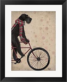 Schnauzer on Bl by Fab Funky Framed Art
