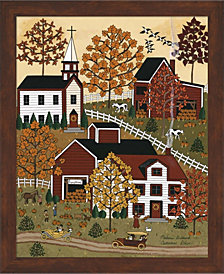 Autumn Drive By Medana Gabbard Framed Art