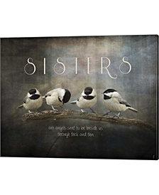 Sisters Chickadees by Jai Johnson Canvas Art
