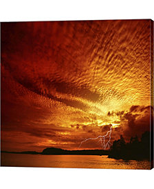 Red Storm By Philippe Sainte-Laudy Canvas Art