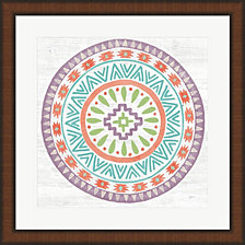 Lovely Llamas Mandala II by Mary Urban Framed Art