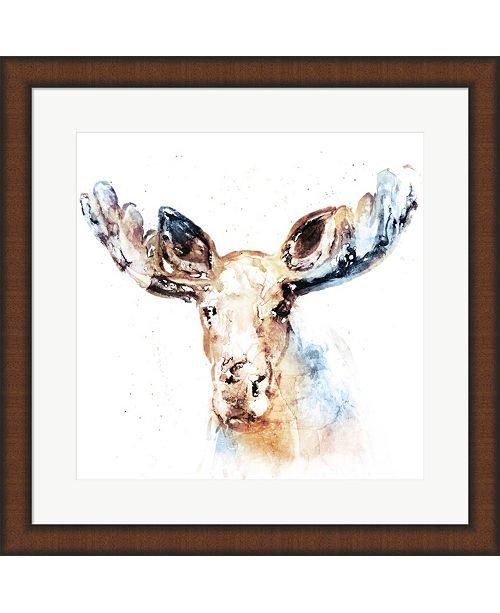 Metaverse Watercolour Moose By Edward Selkirk Framed Art - Home - Macy\'s