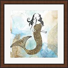 Mermaid I By Pi Galerie Framed Art