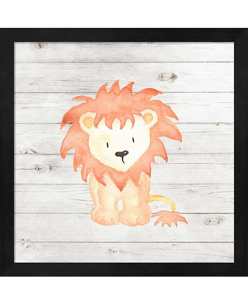 Metaverse Watercolor Lion By Tamara Robinson Framed Art