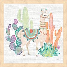 Lovely Llamas Ii By Mary Urban Framed Art