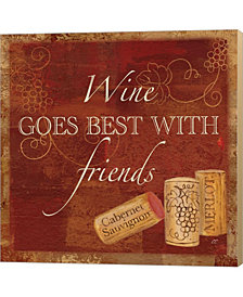 Wine Cork Sentimen1 By Cynthia Coulter Canvas Art