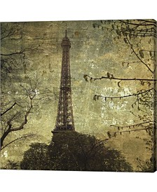 Eiffel Tower By John w. Golden Canvas Art