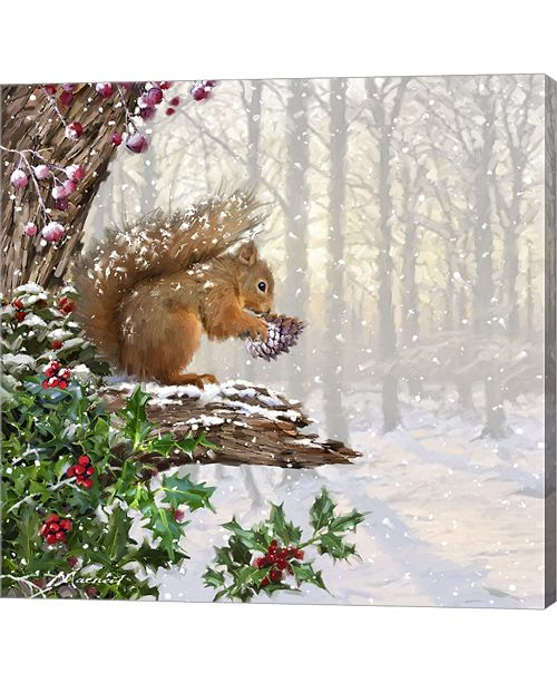 Christmas Squirrel.Christmas Squirrel By The Macneil Studio Canvas Art