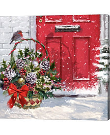 Christmas Basket By The Macneil Studio Canvas Art