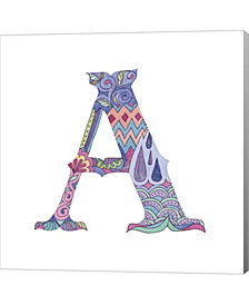 A By Green Girl Canvas Canvas Art