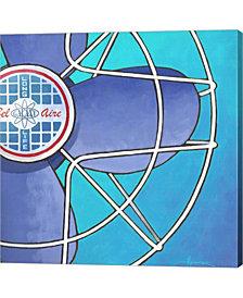 Belaire Fan Aqua By Larry Hunter Canvas Art