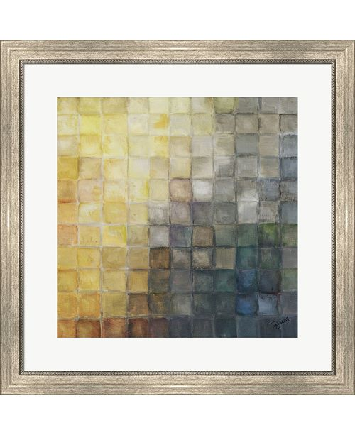 Metaverse Yellow Gray Mosaic2 By Tre Sorelle Studios Framed Art