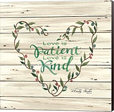 Love Is Patient Heart Wreath By Cindy Jacobs Canvas Art