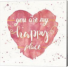 Happy Hearts II Pink by Jess Aiken Canvas Art