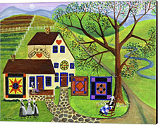 Amish Country Quilt Makers by Cheryl Bartley Canvas Art