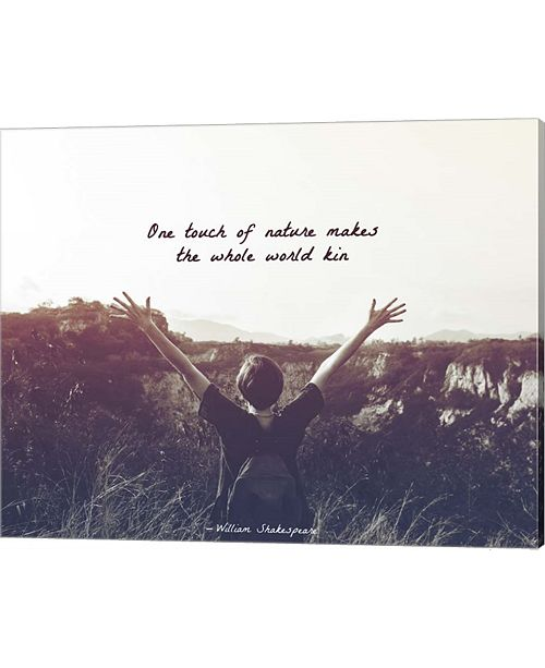 Metaverse One Touch Of Nature Shakespeare Hiker Grayscale By Quote Master Canvas Art