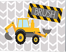 Construction Brush By Tamara Robinson Canvas Art