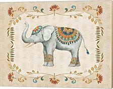 Elephant Walk III by Daphne Brissonnet Canvas Art