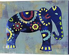 Boho Elephant 2 by Summer Tali Hilty Canvas Art
