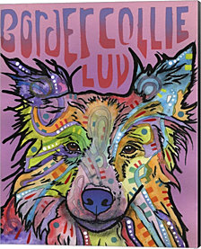 Border Collie Luv 2 by Dean Russo Canvas Art