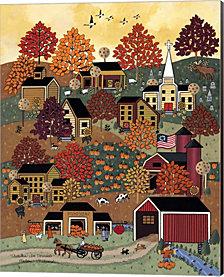 Autumn In Vermont by Medana Gabbard Canvas Art