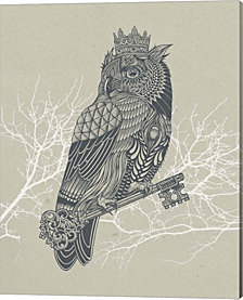 Owl King by Rachel Caldwell Canvas Art