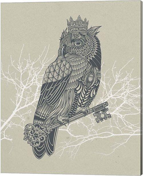 Metaverse Owl King By Rachel Caldwell Canvas Art
