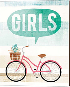 Beach Cruiser Girls II by Michael Mullan Canvas Art