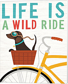 Beach Bums Dachshund Bicycle I Life by Michael Mullan Canvas Art