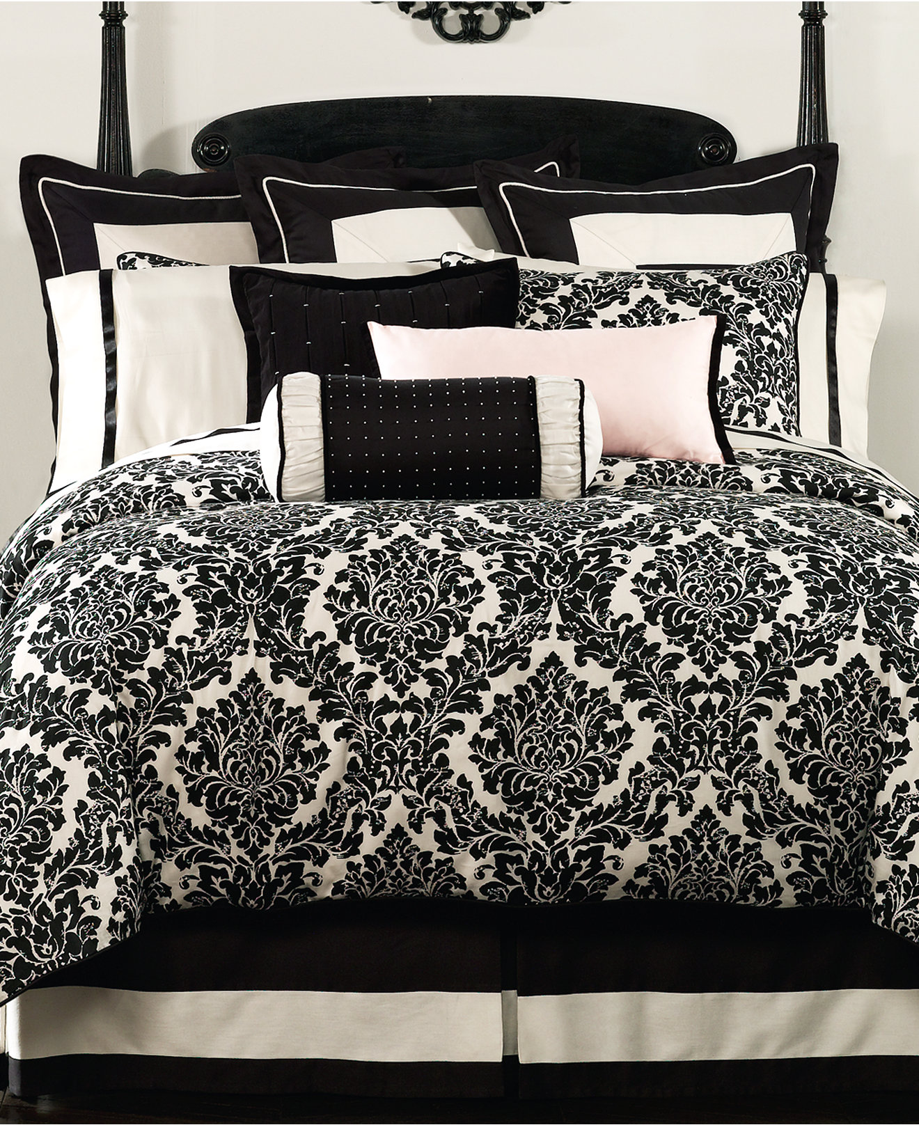 Black and white damask bedding queen - Waterford Lisette 4 Pc Cotton Bedding Collection Bedding Collections Bed Bath Macy S