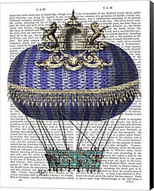 Baroque Fantasy Balloon 4 by Fab Funky Canvas Art