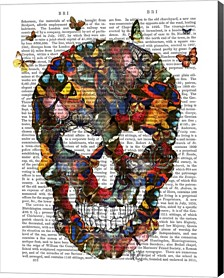 Butterfly Skull By Fab Funky Canvas Art