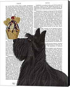 Scottish Terrier Ice Cream by Fab Funky Canvas Art