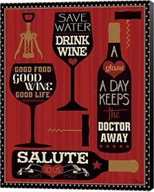 Wine Words Ii By Pela Studio Canvas Art